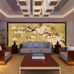中式挂画壁画客厅装饰画餐厅壁画中式玄关风景油画壁画