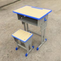 供应厂家直销2018学生新款课桌凳 单人桌椅