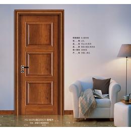 木门出售 FSJ-8105香榧木 工艺扣线门