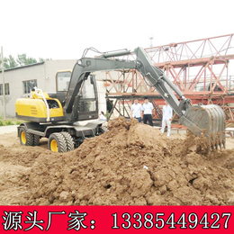西藏全旋转式立挖掘机农用轮式挖掘机价格