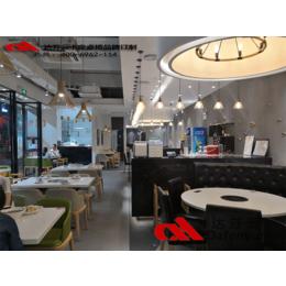 厂家批发定制陈记顺和牛肉自助火锅餐厅桌椅 实木快餐桌椅