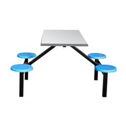 四位玻璃钢圆凳餐桌