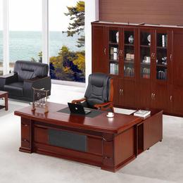 深色实木实木电脑办公桌 缩略图