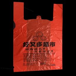 红色购物塑料袋水果手提塑料袋缩略图