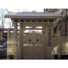户外碳化防腐木农家乐庭院围栏
