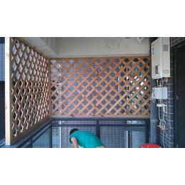 户外碳化防腐木家庭阳台围栏定制