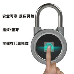 蓝牙指纹挂锁智能锁户外门挂锁行李箱锁智能锁带app开锁