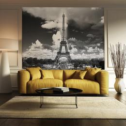 城市印象现代简约巴黎埃菲尔铁塔玄关装饰画建筑竖幅挂画壁画