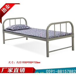 鋼制方管單層床0.9米/1.2米單人雙人鐵架床 福建地區含送貨