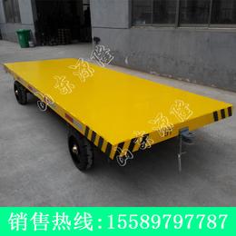 源隆定做各种双牵引平板拖车 5吨双向平板车 厂区两头牵引板车