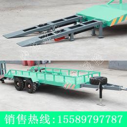 源隆定做各种5吨爬梯平板拖车 减震性厂区板车 牵引平板拖车