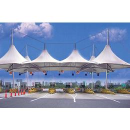 高速公路收费站膜结构 羽毛球场遮阳棚 篮球场遮阳棚