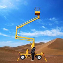 14米曲臂升降机 高架管道维修升降车 柴电两用升降平台供应