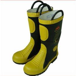 供应02款消防战斗靴消防员灭火防护靴两耳朵消防防护鞋价格