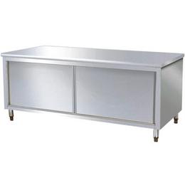 不锈钢商用厨房储物双通道操作台缩略图