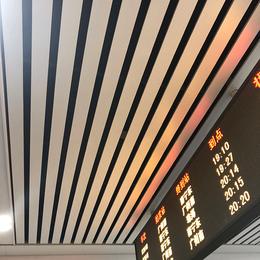 高铁站白色铝条板吊顶