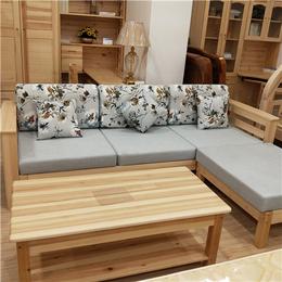 厂家直销 松木环保沙发 茶几组合 实木组合沙发 简约木质沙发