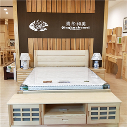 江西青华家具 松木环保床 1.8双人床1.5现代简约床定制