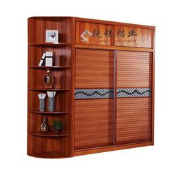 工厂定制全铝合金高档现代木纹家具 铝合金衣柜家具