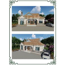 欧式别墅轻钢龙骨结构房屋模块化预制房屋环保节能缩略图