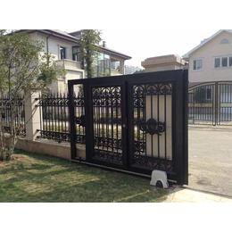 北京海淀铝艺庭院大门厂家铝艺阳台护栏铸铝庭院门定制