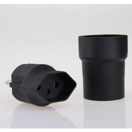 万浦 插座厂家直供瑞士转欧式插头旅行插座电源转换插头
