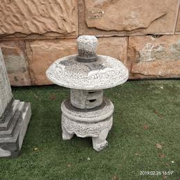 仿古青石中式石灯笼户外枯山水造景禅摆件