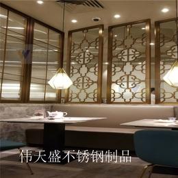 新中式不锈钢屏风玄关隔断客厅简约不锈钢屏风缕空厂家直销