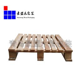 黄岛辛安托盘定做四面进叉1.1m松木材质价格优惠