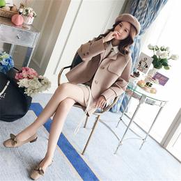 新款双面呢阿尔巴卡羊绒大衣品牌广州女装尾货货源供应