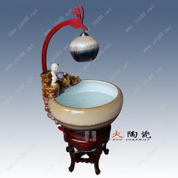 景德镇手绘陶瓷流水鱼缸批发厂家