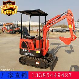 洛阳迷你小挖机 0.8吨小型挖掘机 山鼎农用挖掘机 厂家直销