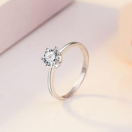 925银时尚简约镶嵌锆石女式戒指 银饰品制造商供应