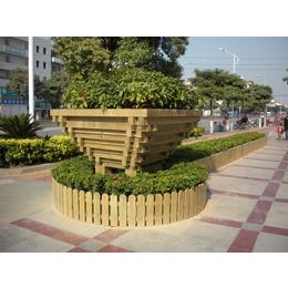 南昌室外防腐木组合花盆生产