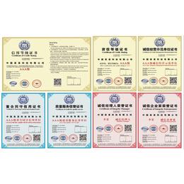 长风国际七证AAA级信用等级书企业投标加分