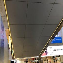 定制电梯包柱铝单板 灰色氟碳铝单板 弧形铝单板