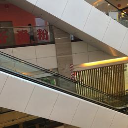 武汉保利广场电梯装饰铝单板 包柱铝单板 弧形铝单板