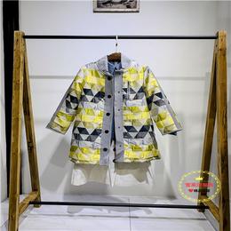 大码女装品牌服饰批发市场 昆诗兰短款防水面料外套广州盛发货源