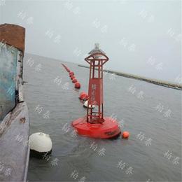 海上单个定点悬挂配重水面漂浮警示航标