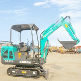 果园种树用的微型挖掘机 工程带破碎锤的2吨挖掘机