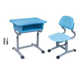 塑料提拉式升降课桌椅
