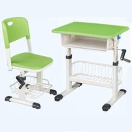 塑料手摇起落课桌椅