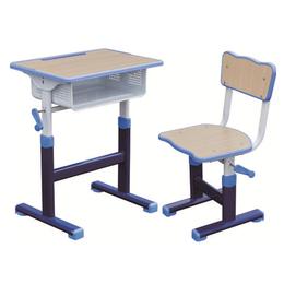 HL-A1928注塑包边手摇式升降课桌椅