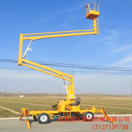 广西全高度旋转作业升降车 16米曲臂升降机16米折臂升降台