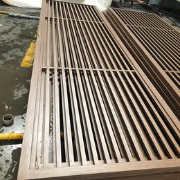 茶餐厅定制木纹铝窗花 铝合金隔断