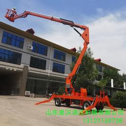 塔城市電動液壓升降作業車18米曲臂升降機18米折臂升降臺供應