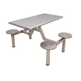 HL-A19112四位不锈钢圆凳连体餐桌