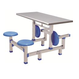 HL-A19113四位不锈钢圆凳连体餐桌