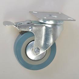 3寸灰胶透明丝杆活动脚轮-中山业亿脚轮生产厂家缩略图