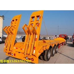 二手拖头牵引车13米12米低平板全新半挂车